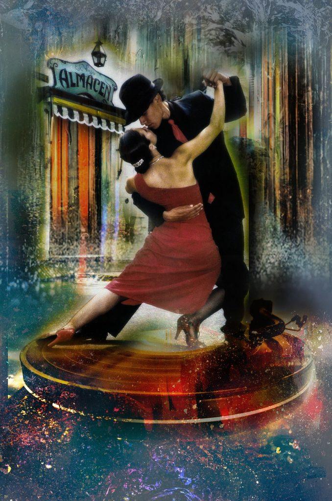 intohimoinen tanssi